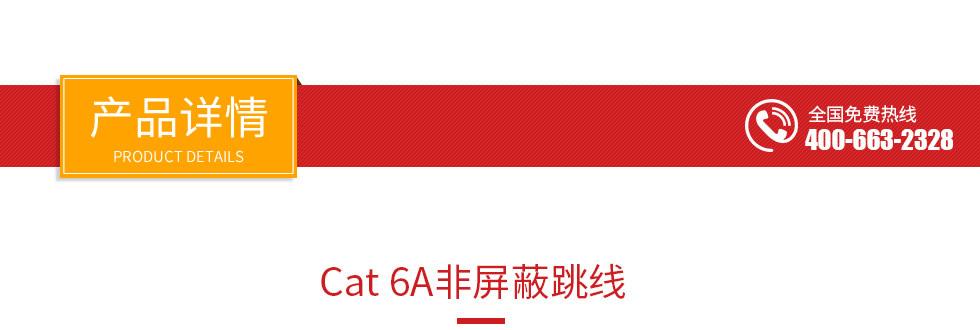 六A类非屏蔽网络跳线