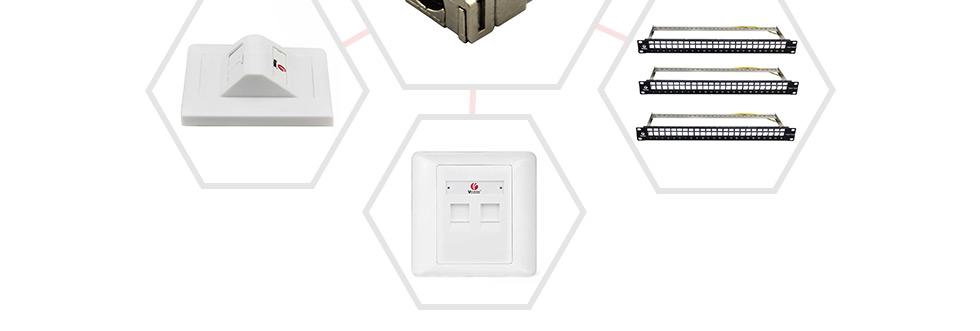 超五类屏蔽免打式信息模块