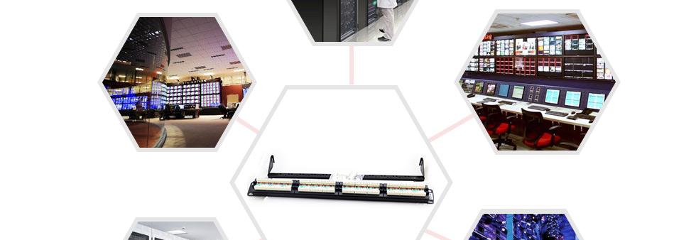 六类非屏蔽固定端口配线架