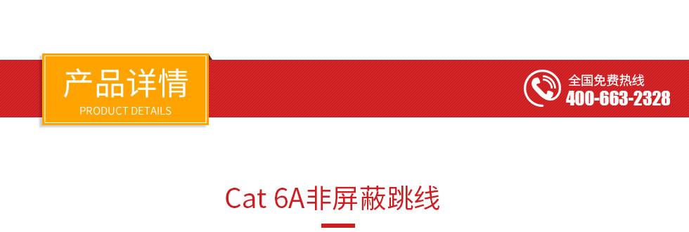 Cat 6A非屏蔽跳线